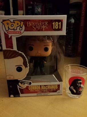 Pop Vinyl and Shot Glass